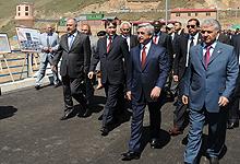 Президент Серж Саргсян с рабочим визитом отправился в Котайкскую и Гегаркуникскую области