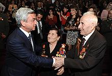 Серж Саргсян присутствовал на посвященном майским победам праздничном концерте