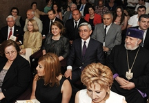 Серж Саргсян присутствовал на концерте и приеме, организованных по случаю 20-летия общеармянского фонда «Айастан»