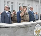 President Serzh Sargsyan arrived to the Republic of Nagorno Karabakh