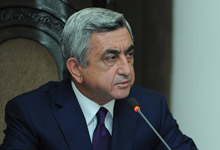 Речь Президента Сержа Саргсяна на внеочередном заседании Правительства