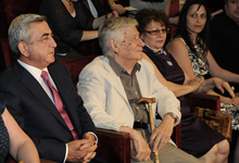 President Serzh Sargsyan watched Shakespeare's King John performance at the G. Soundukian Theater
