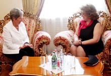 ՀՀ առաջին տիկին Ռիտա Սարգսյանը հյուրընկալել է Ավստրիայի նախագահի տիկին Մարգիթ Ֆիշերին