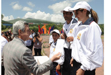 "In Tsakhkadzor Serzh Sargsyan observed the finals of the annual ""The Best Sport Family"" competition"