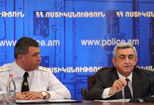 Вступительное слово Президента Сержа Саргсяна на заседании коллегии Полиции РА