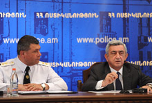 President Serzh Sargsyan participated at the senior staff meeting at the RA Police
