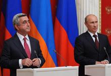 Совместная пресс-конференция Президента Сержа Саргсяна и Президента Российской Федерации Владимира Путина