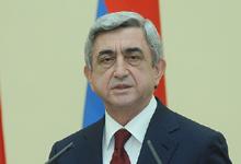 Поздравительное послание Президента РА Сержа Саргсяна по случаю Дня независимости НКР