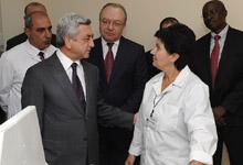 Президент Серж Саргсян посетил с рабочим визитом область Ширак
