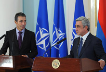 Joint Press Conference of the President Serzh Sargsyan and the Secretary General of NATO Anders Fogh Rasmussen