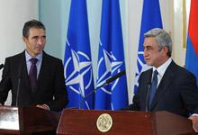Совместная пресс-конференция Президента Сержа Саргсяна и Генерального секретаря НАТО Андерса Фог Расмуссена