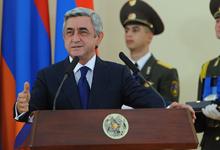 Выступление Президента Сержа Саргсяна во время приема, данного в честь сборной команды Армении, ставшей трехкратным чемпионом Всемирной шахматной олимпиады