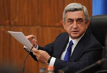 Вступительное слово Президента Сержа Саргсяна на совещании в правительстве