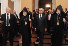 Նախագահ Սերժ Սարգսյանը մասնակցել է Մատենադարանի նորոգված հիմնական մասնաշենքի վերաբացմանը