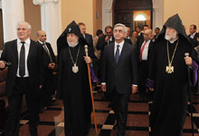 President Serzh Sargsyan participated at the re-opening of the renovated main premise of Matenadaran