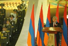 Congratulatory Address by the President of the Republic of Armenia Serzh Sargsyan on the occasion of Independence Day