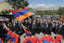 Working visit of President Serzh Sargsyan to Vayots Dzor marz
