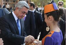 Президент принял участие в мероприятиях, организованных в рамках 2697-летия Эчмиадзина
