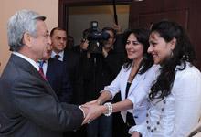 Президент Серж Саргсян с рабочим визитом побывал в Арагацотнской и Ширакской областях