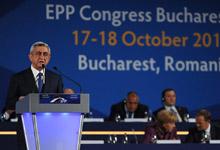 Выступление Президента Сержа Саргсяна на съезде Европейской народной партии