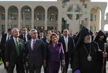 Президент присутствовал на открытии новопостроенного матенадарана Первопрестольного Св. Эчмиадзина