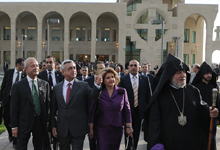 President Sargsyan attended the opening ceremony of the newly built depository of ancient manuscripts – matenadaran at the Holy See of Etchmiadzin
