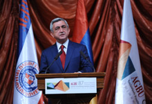 Выступление Президента Сержа Саргсяна по случаю проведения 87-го общего собрания АОБС