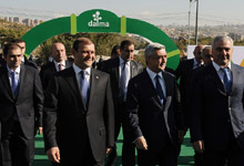 President Serzh Sargsyan attended the opening ceremony of the Dalma Garden Mall compound and visited the Armprodexpo exhibition