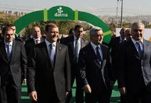 Президент присутствовал на открытии комплекса «Далма Гарден мол» и посетил выставку «Армпродэкспо»