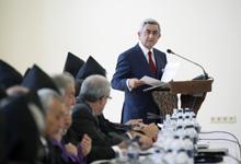 Приветственная речь Президента Сержа Саргсяна по случаю 4-го Епархиального представительского собрания Армянской Апостольской Церкви