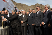 Նախագահ Սերժ Սարգսյանը ներկա է գտնվել Մեղրիի հիդրոէլեկտրակայանի հիմնարկեքի արարողությանը