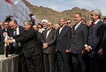 Президент Серж Саргсян присутствовал на церемонии закладки Мегринской гидроэлектростанции