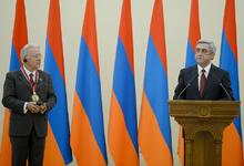 Remarks by the President of Armenia Serzh Sargsyan at the reception held on the occasion of bestowing the Global Award of the President of the Republic of Armenia for Outstanding Contribution to Humanity through IT to Federico Faggin