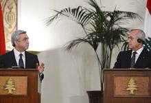 Заявление Президента Сержа Саргсяна на совместной пресс-конференции с Президентом Ливанской Республики Мишелем Сулейманом