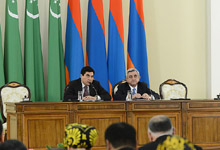 Statement by President Serzh Sargsyan at the meeting with the representatives of the mass media on the results of the negotiations with the President of Turkmenistan