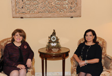 RA First Lady Rita Sargsyan was hosted by the First Lady of Lebanon Vafaa Suleiman