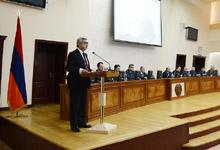 Նախագահ Սերժ Սարգսյանի խոսքը ՀՀ պաշտպանության նախարարությունում տեղի ունեցած ընդլայնված նիստում