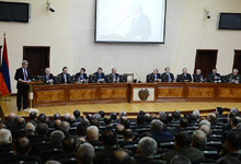 Statement by President Serzh Sargsyan at the extended meeting held at the RA Ministry of Defense