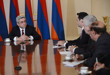 President Serzh Sargsyan met with the representatives of the mass media