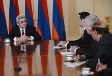 Встреча Президента Сержа Саргсяна с представителями СМИ