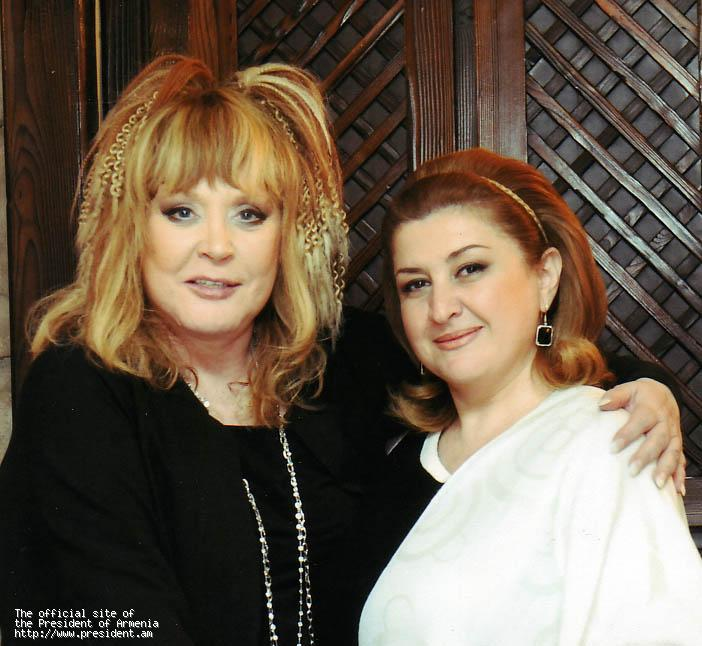 First lady hosted the famous singer alla pugacheva