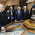 President Serzh Sargsyan at the official ceremony of the inauguration of the new scientific complex of Matenadaran-20.09.2011