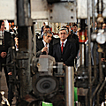President Serzh Sargsyan visits the glass container producing Saranist company in Kotayk-27.11.2010