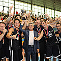 President Serzh Sargsyan at the Yerevan Mika stadium at the finals of the men's basketball tournament conducted in the framework of the 5th Pan-Armenian Games-21.08.2011
