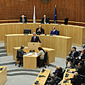 President Serzh Sargsyan speaks at the House of Representatives of Cyprus-17.01.2011