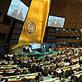 President Serzh Sargsyan speaks at the 66th session of the UN General Assembly in the US-23.09.2011