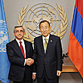 In the US, President Serzh Sargsyan meets with the UN Secretary General Ban Ki-moon-23.09.2011