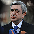 President Serzh Sargsyan talks to the journalists after forum in Tsakhkadzor-12.03.2011