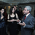 President Serzh Sargsyan at the concert of the world famous Spanish opera singer Placido Domingo-03.12.2010
