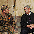 In Stepanavan, President Serzh Sargsyan visited the family of the serviceman Artak Gabuzian-05.11.2011